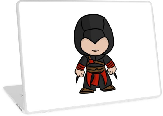 Chibi Assassin Laptop Skin By Tgdigital Redbubble