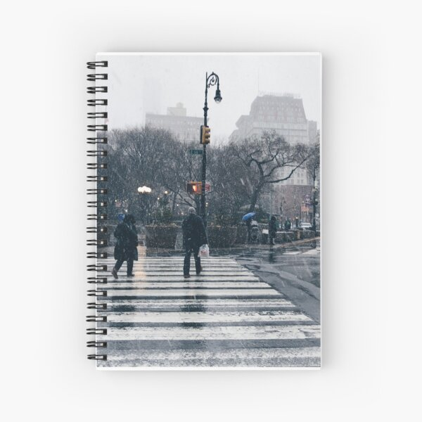New York City Blizzard Union Square Spiral Notebook