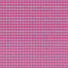 Fuchsia Red Gingham Checked Pattern by Artist4God