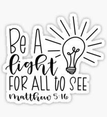 Matthew 5:16 Sticker