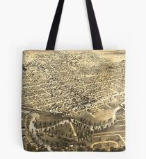 Vintage Pictorial Map of Fort Wayne Indiana (1868) Tote Bag