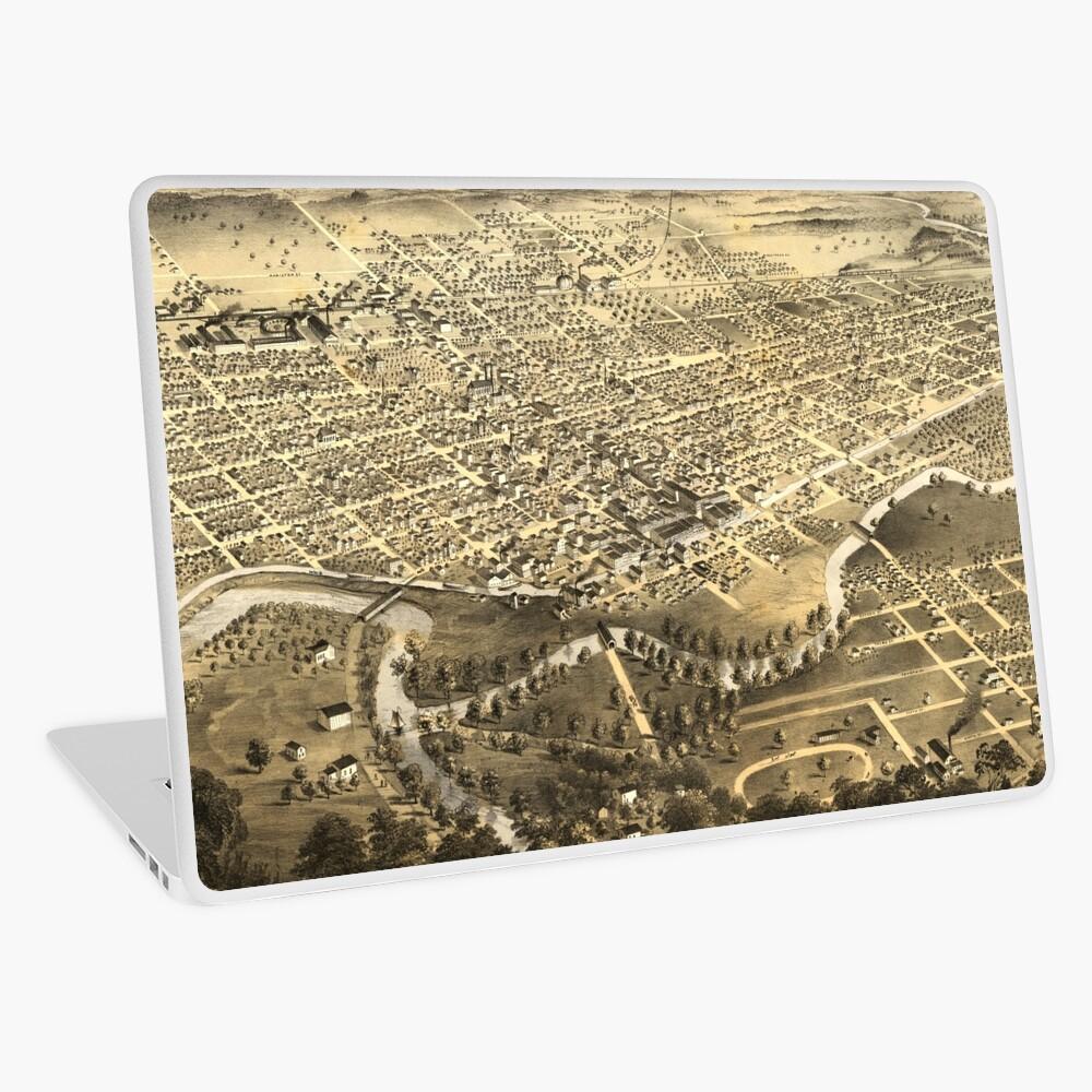 Vintage Pictorial Map of Fort Wayne Indiana (1868) Laptop Skin