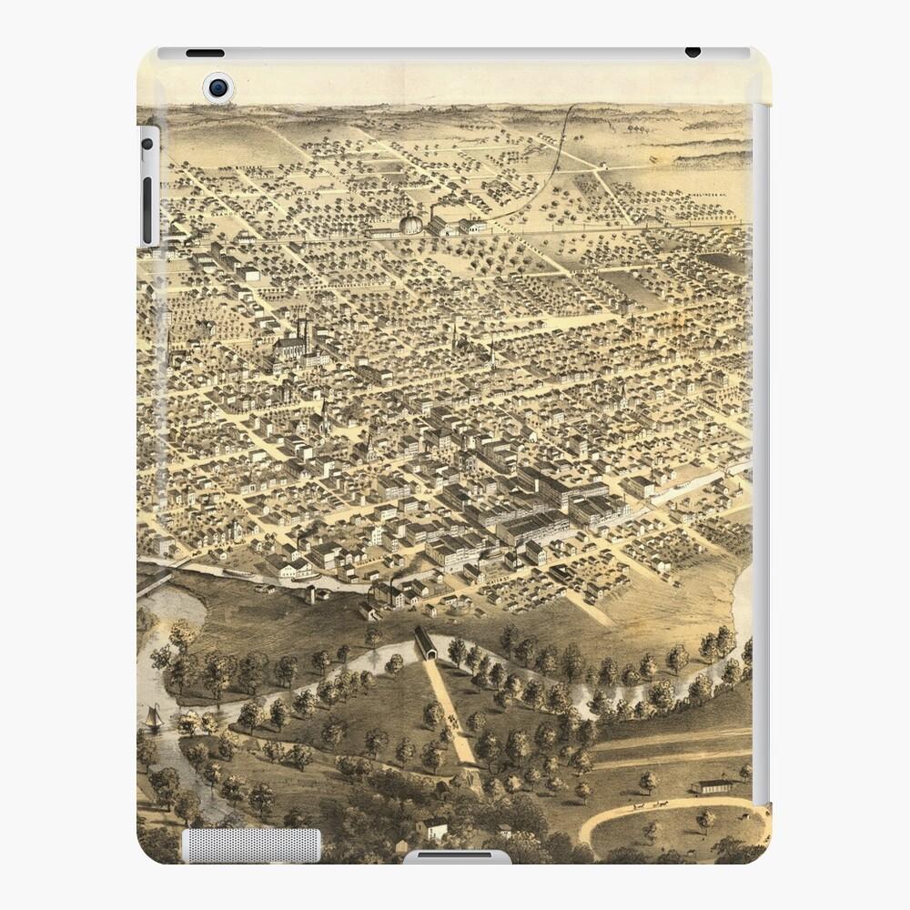 Vintage Pictorial Map of Fort Wayne Indiana (1868) iPad Case & Skin