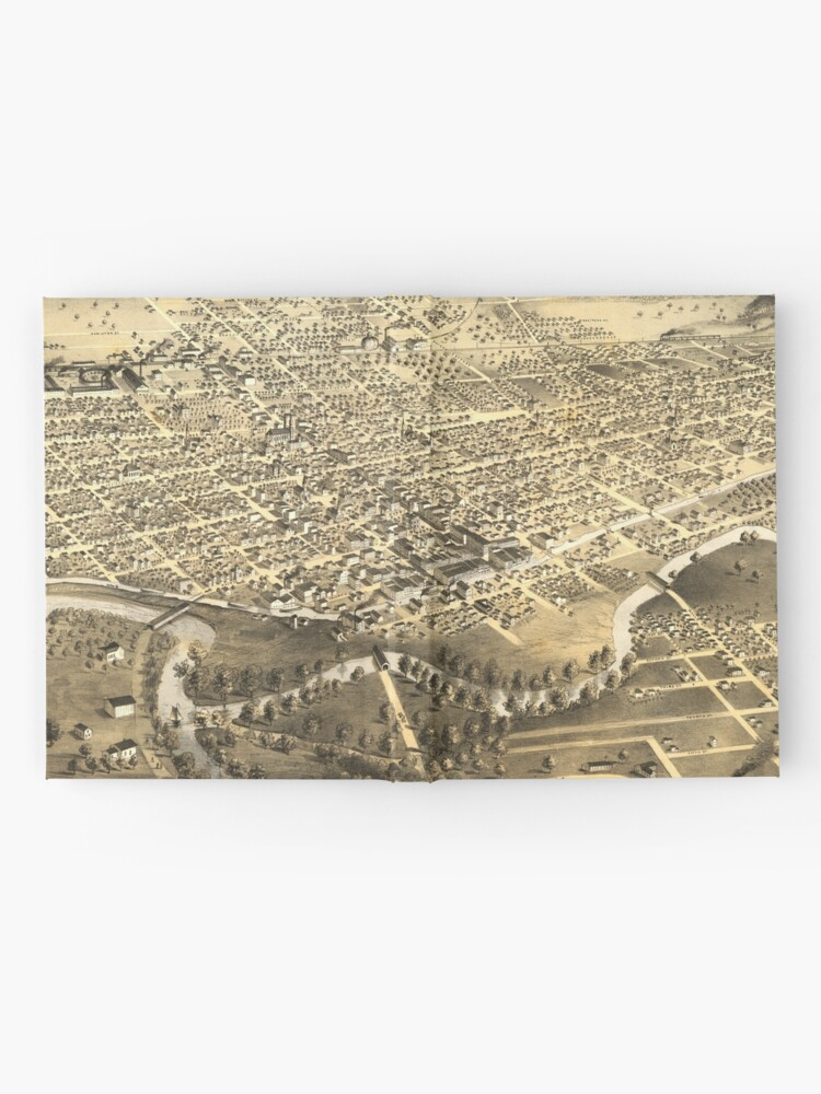 Alternate view of Vintage Pictorial Map of Fort Wayne Indiana (1868) Hardcover Journal