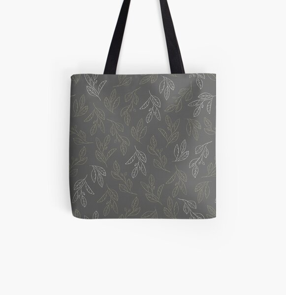 Falling Flora All Over Print Tote Bag