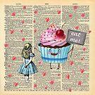 «Alicia en el país de las maravillas - Eat Me - Página del diccionario de la vendimia» de maryedenoa