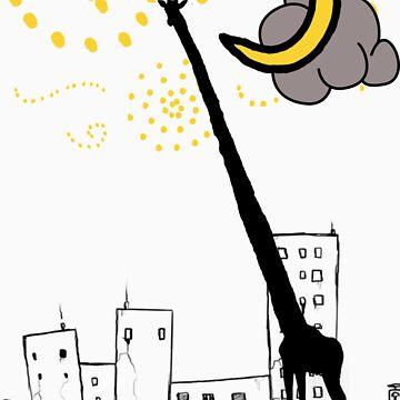 Giraffe in the Sky by branmattic
