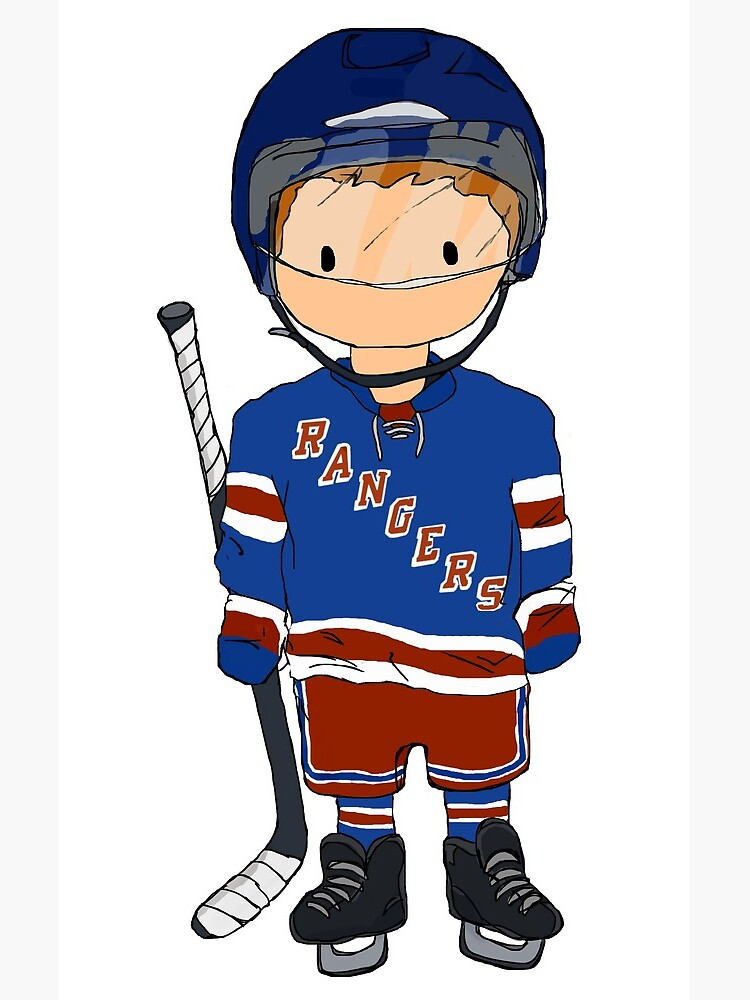 mini rangers jugador de hockey (camiseta local) de charliecross
