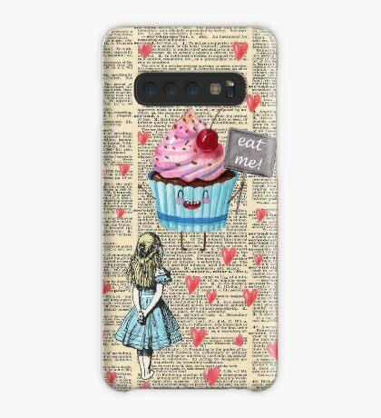 Alicia en el país de las maravillas - Eat Me - Página del diccionario de la vendimia Funda/vinilo para Samsung Galaxy