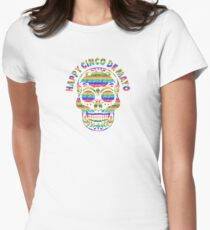 Happy Cinco de Mayo Skull T Shirt Women's Fitted T-Shirt