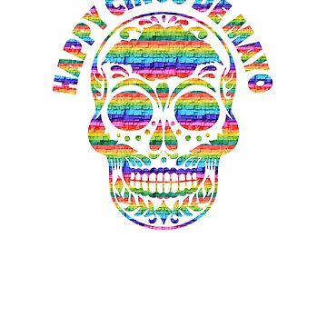 Happy Cinco de Mayo Skull T Shirt by ESSTEE