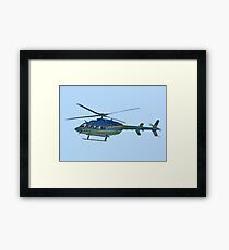 Helicopter in Motion Framed Print