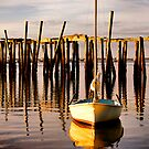 Lonely Boat by Philip James Filia