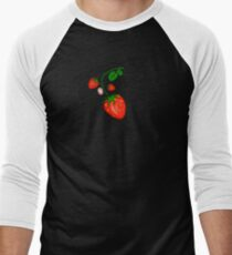 Strawberry Men's Baseball ¾ T-Shirt