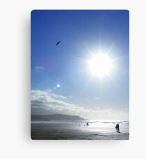 Cornwall: Let's go fly a kite Canvas Print