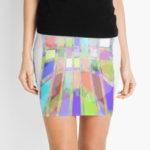 Faded Jewel Tones 1 By Cecile Grace Charles Mini Skirt