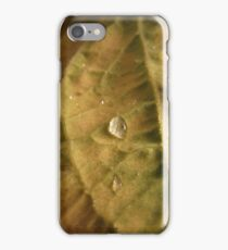water droplet in controlled area iPhone Case/Skin