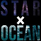 STAR X OCEAN (white X) by maggiederrick