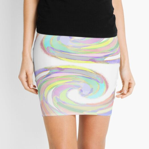 Faded Twirl by Cecile Grace Charles Mini Skirt