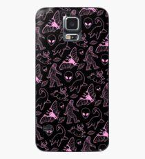 Cryptid Muster (rosa Linien) Hülle & Klebefolie für Samsung Galaxy