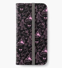 Cryptid Muster (rosa Linien) iPhone Flip-Case/Hülle/Skin
