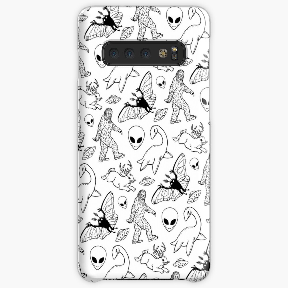 Cryptid Pattern (White Background)  Case & Skin for Samsung Galaxy