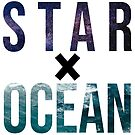 STAR X OCEAN (black X) by maggiederrick