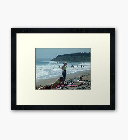 We Love The Beach Framed Print