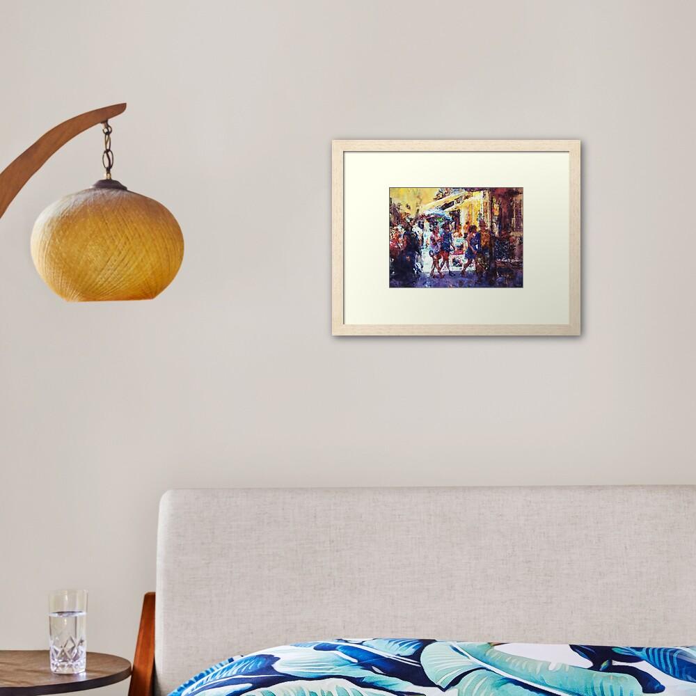 The Marketplace Framed Art Print