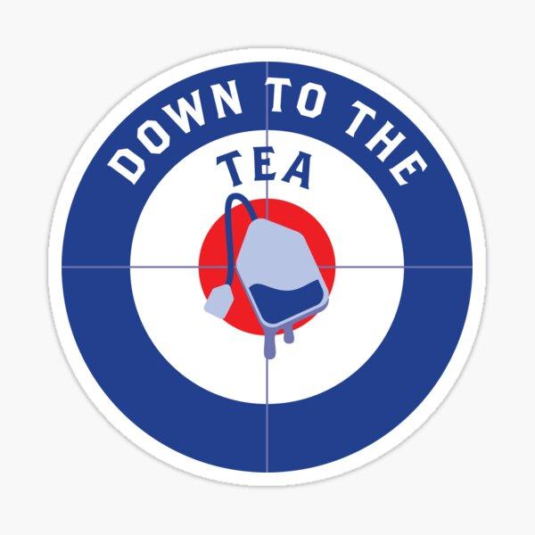 Down To The Tea Curling Mug Sticker