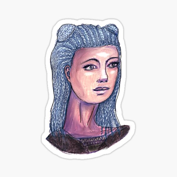 Blue Hair Don't Care Sticker