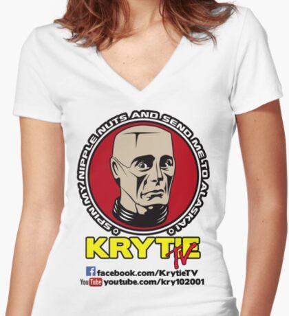 Krytie TV Women's Fitted V-Neck T-Shirt