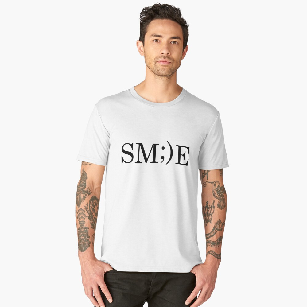 Smile   Happiness Men's Premium T-Shirt Front