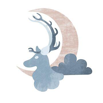 Caribou Moon by Lunamis