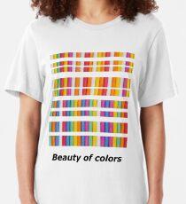Beauty of colors Slim Fit T-Shirt