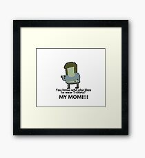You know who else likes to wear T-shirts? - Muscle Man | Regular Show Framed Print