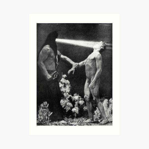 HD- Hypnosis,  by Sascha Schneider (1904) HIGH DEFINITION Art Print