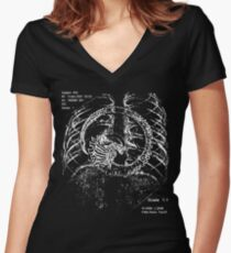 Alien chestburster (improved) Women's Fitted V-Neck T-Shirt