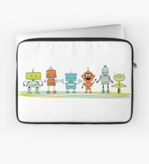 Cute cartoon robots Laptop Sleeve
