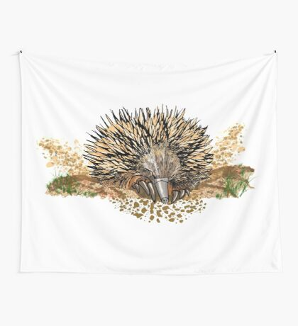 echidna digging Wall Tapestry
