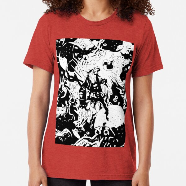 Hellboy in Hell Reworked  Tri-blend T-Shirt