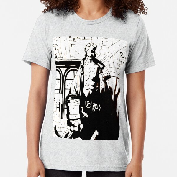 Hellboy in Hell Reworked 4 Tri-blend T-Shirt