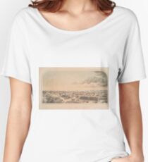 Vintage Pictorial Map of Key West FL (1855) Women's Relaxed Fit T-Shirt