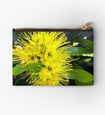 Golden Panda Australian Native Plant. Studio Pouch