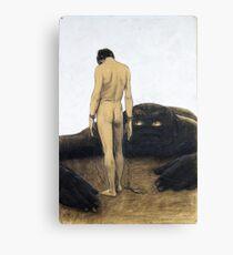 Lienzo HD- Feeling of Dependence, de Sascha Schneider (1920 aprox)