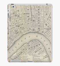 Vintage Map of New Orleans LA (1866) iPad Case/Skin