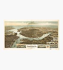 Vintage Pictorial Map of Norfolk Virginia (1892) Photographic Print