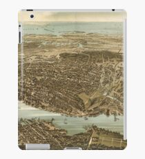 Vintage Pictorial Map of Norfolk Virginia (1892) iPad Case/Skin