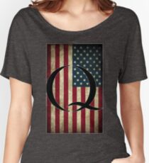 Q QANON AMERICA USA - WHERE WE GO ONE Women's Relaxed Fit T-Shirt