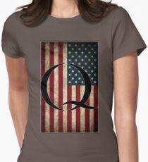 Q QANON AMERICA USA - WHERE WE GO ONE Women's Fitted T-Shirt